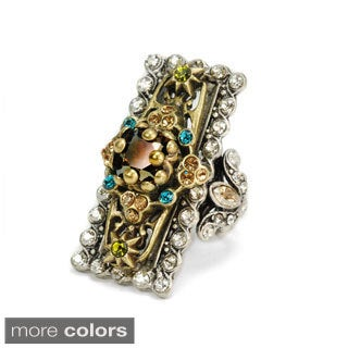 Sweet Romance Silvertone Crystal Ooh-la-la Ring