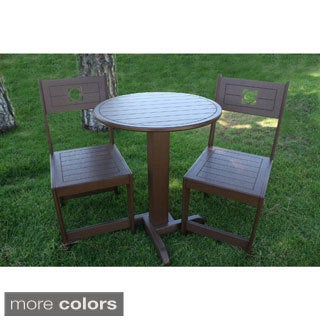 Cafe' 24-inch Round Bistro Table and Chairs (Set of 3)