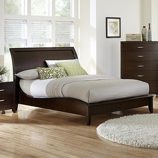 Fabulous  Store TRIBECCA HOME Lancashire Cherry Finish Curved Sleigh Bed Shop