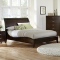 Cherry Finish Curved Sleigh Bed