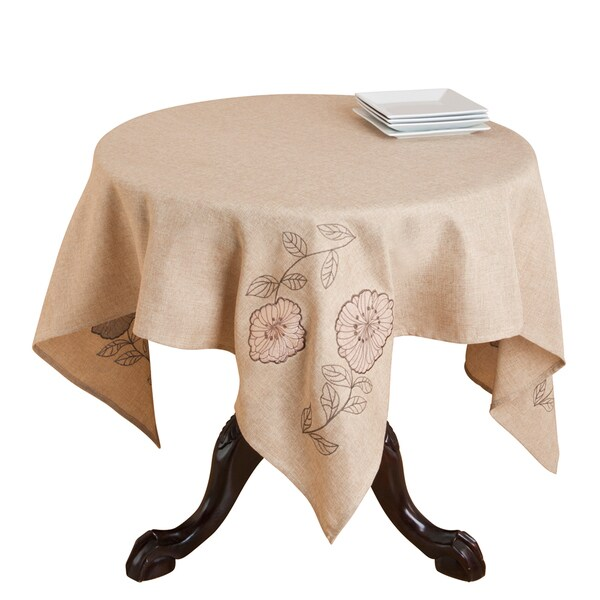 Appliqu and Embroidered Table Topper