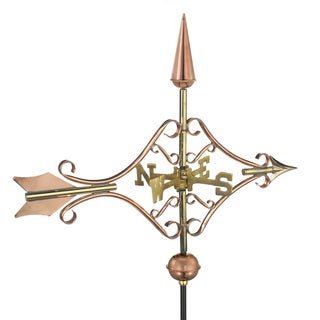 Victorian Arrow Polished Copper Roof Mount Weathervane