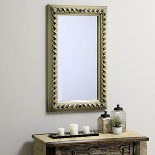 Hand-carved Ashley Antiqued Wall Mirror(Indonesia)