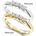 Annello 14k White or Yellow Gold 1/6ct TDW Princess-cut Diamond Ring(H-I, I1-I2)