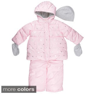 Carter's Girl's Hooded Snowflake Print Snowsuit