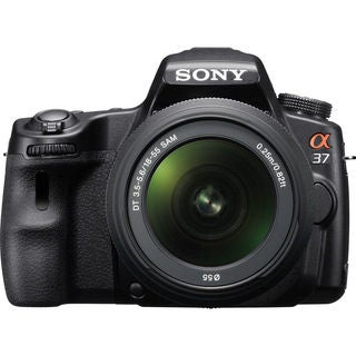 Sony Alpha SLT-A37 16.1MP Black DSLR Camera with 18-55mm Zoom Lens