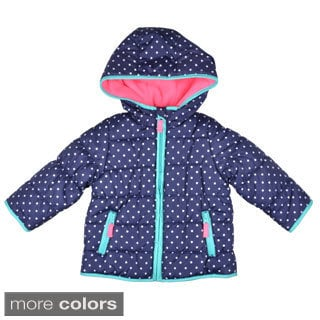Carter's Girl's Fleece Lined Hooded Bubble Coat