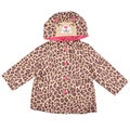 Carter's Girl's Hooded Cheetah Print Rain Coat