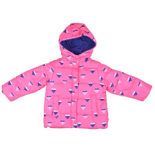 Carter's Girl's Hooded Heart Print Bubble Coat