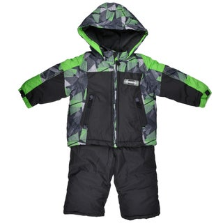 London Fog Boy's Raglan Print Two-Piece Green Snowsuit