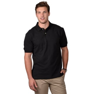 Boston Traveler Men's Black Short-sleeve Polo Shirt
