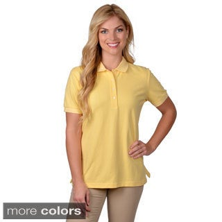 Journee Collection Women's Short-Sleeve Solid-Colored Polo Shirt