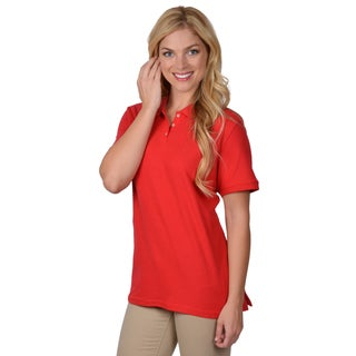 Journee Collection Women's Lightweight Short-Sleeve Polo Shirt