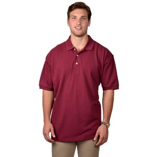 Boston Traveler Men's Solid Short-sleeve Polo Shirt