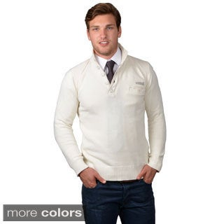 Boston Traveler Men's Ribbed Collar Sweater