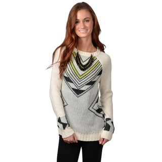 Journee Collection Juniors Long Sleeve Graphic Print Sweater
