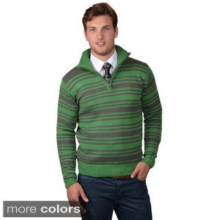 Boston Traveler Men's Long Sleeve Striped Sweater
