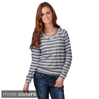 Journee Collection Women's Striped Long Sleeve Top
