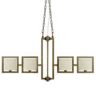 Akimbo 4-light Burnished Brass Island Pendant