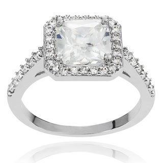 Journee Collection Brass Marquise-cut Cubic Zirconia Bridal-style Ring