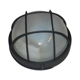 Bulkhead 1-light Black Florescent Flush Mount
