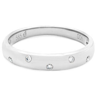 Diamonds for a Cure 14k Gold Diamond Accent Stackable Band
