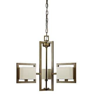 Akimbo 3-light Burnished Brass Chandelier