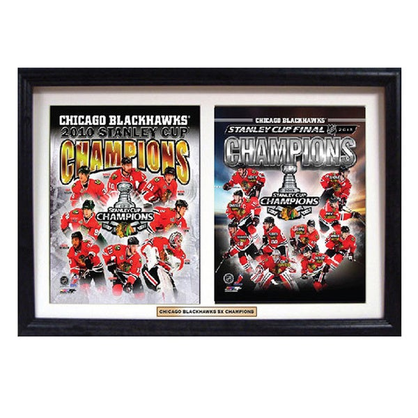Chicago Blackhawks 2013 Stanley Cup Champions Deluxe Double Frame 11953925