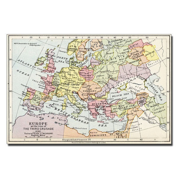 Unknown 'Europe at the Time of the Third Crusade' Canvas Art