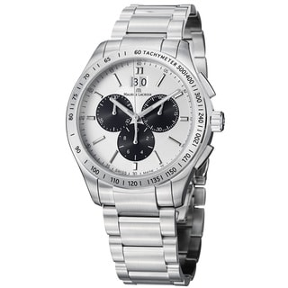 Maurice Lacroix Men's MI1028-SS002-130 'Miros' Silver Dial Stainless Steel Chrono Watch