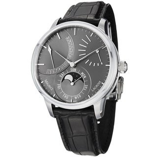 Maurice Lacroix Men's MP6528-SS001-330 'MasterPiece' Grey Dial Lune Retrograde Watch