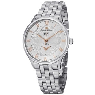 Maurice Lacroix Men's MP6707-SS002-111 'MasterPiece' Stainless Steel Date GMT Watch