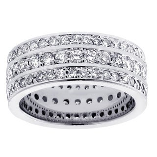 14k/ 18k Gold or Platinum 3 1/10ct TDW Diamond Wedding Band (F-G, SI1-SI2)