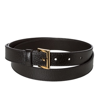 Prada 'Cinghiale' Black Leather Belt