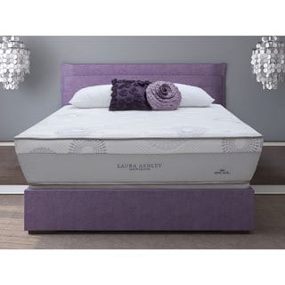 Laura Ashley Azalea Cushion Firm Super Size Queen-size Mattress and Foundation Set