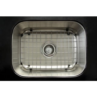 Undermount Stainless Steel 23-inch Single Bowl Kitchen Sink Combo