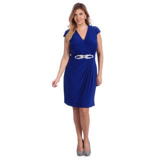Alex Evenings Women's Plus Royal Blue Evening Dress