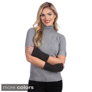 Women's Crystal Embellished Fingerless Gloves