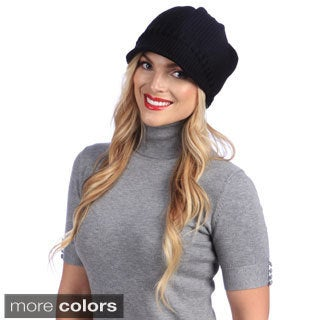 Women's Solid Textured Hat