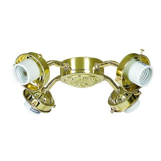 Polished Brass Fan Light Kit