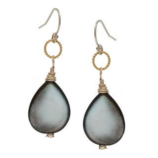 Charming Life 14k Goldfill Mother of Pearl Dangle Earrings