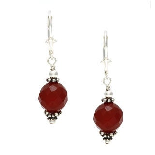 Charming Life Sterling Silver Autumn Carnelian Earrings