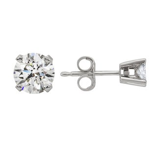 14k White Gold 5/8ct TDW Round Diamond Stud Earrings (H-I, SI2)