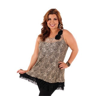 Women's Plus Size Mesh Top