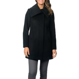 Ivanka Trump Women's 'Ladylike' Black Wool Blend Coat