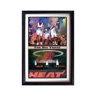 Miami Heat 'The Big Three' 12x18-inch Double Frame