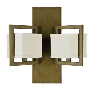 'Akimbo' Burnished Brass 2-light Geometric Sconce