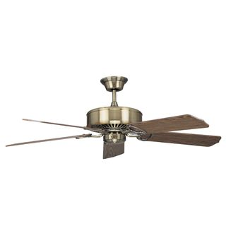 'Madison' Antique Brass 52-inch Ceiling Fan