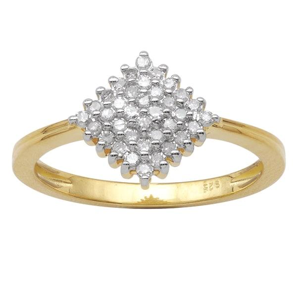 10k Yellow Gold 1/4ct TDW Diamond Fashion Ring (HI-I3)