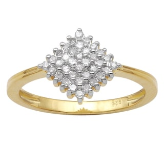 10k Yellow Gold 1/4ct TDW Diamond Fashion Ring (HI-I3)